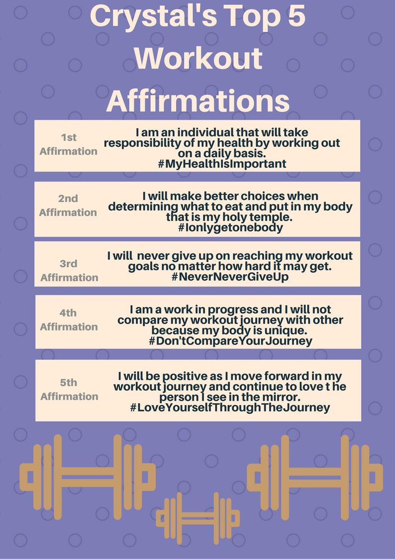 Work Out Affirmations